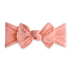 Baby Bling trimmed classic knot bow