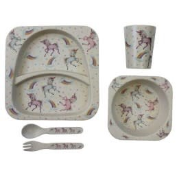 Powell Craft Bamboo Dinner Set