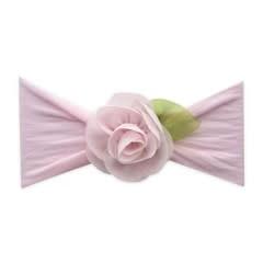 Baby Bling Rosette Leaf Headband Bow