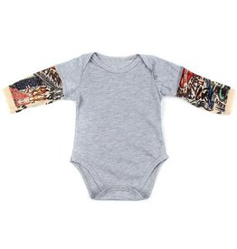 Stephan Baby Tattoo Sleeve Baby Onesie