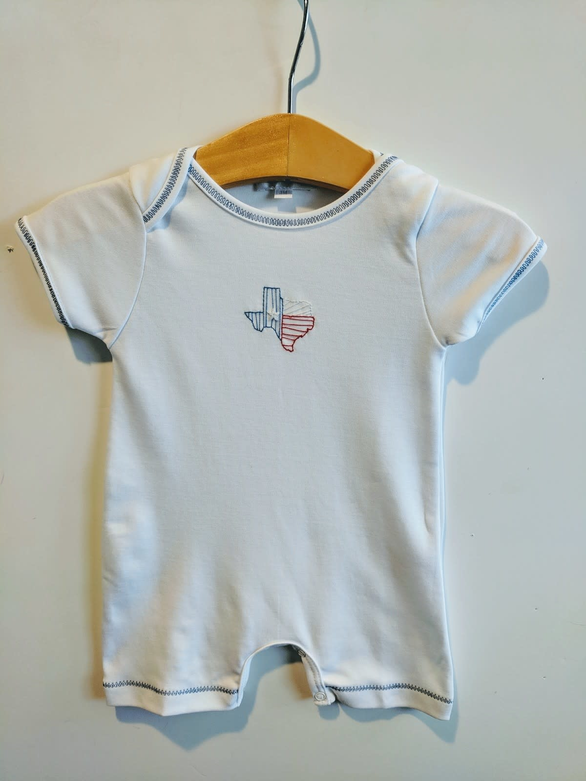 Magnolia Baby Embroidered Texas Short Romper