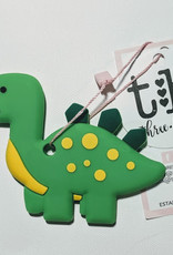 Three Hearts Dino Silicone Teether