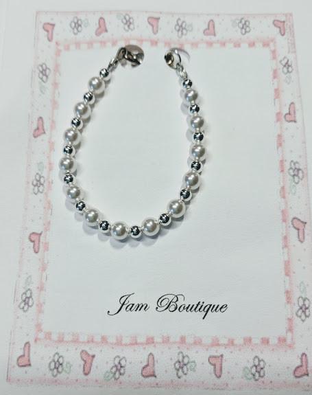 ZsaZsa & Lolli Toddler and Little Girl Pearl Bracelets
