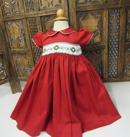 Will' Beth Short Sleeve Smocked Chistmas Dress