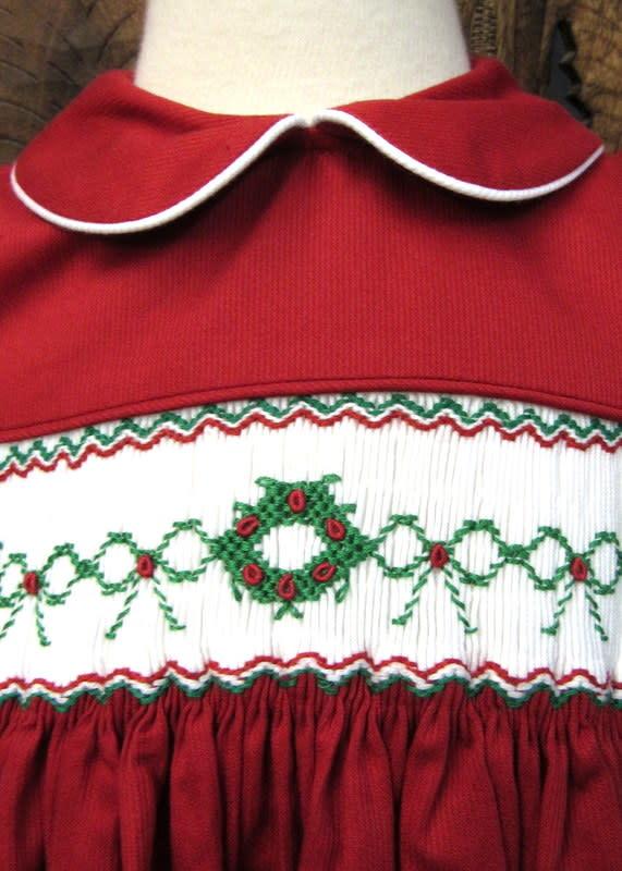 Will' Beth Short Sleeve Smocked Chistmas Dress