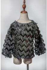ML Fashions Sequined Shaggy Top