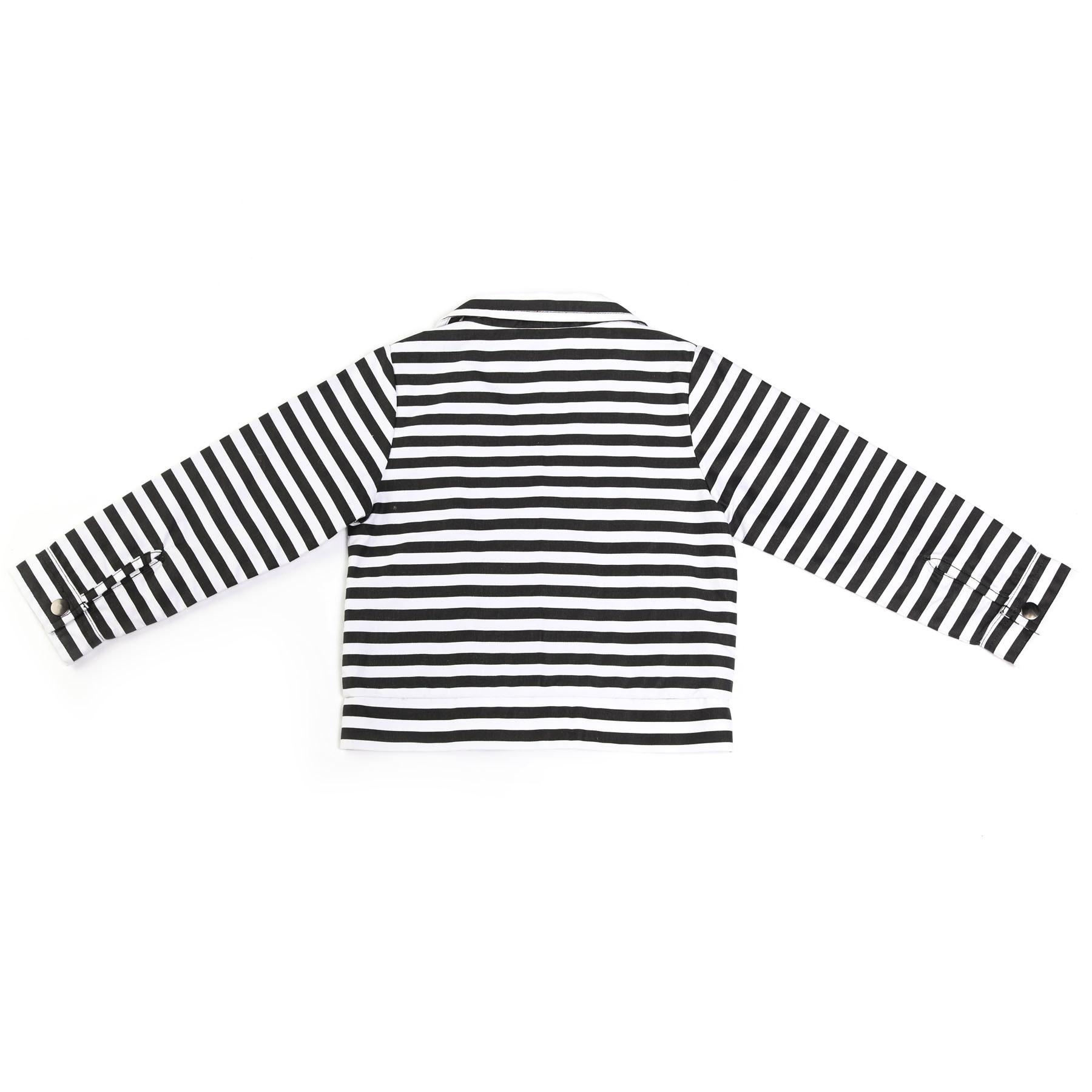 Kapital K Striped Biker Jacket