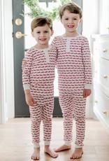 Lila+Hayes Boy's Pima Cotton Christmas 2 pc Pj's