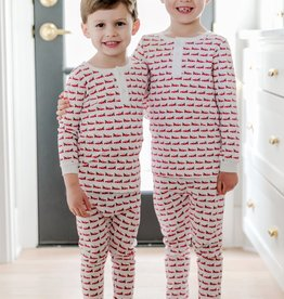 Lila+Hayes Boy's Pima Cotton Christmas 2 pc Pj's