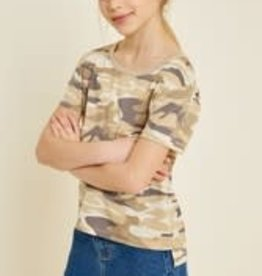 Hayden Girl's Camo Top