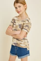 Hayden Girl's Camo Top
