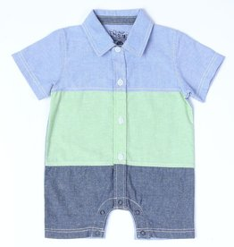 Kapital K Baby Boy Cool Cucumber Color Block Romper