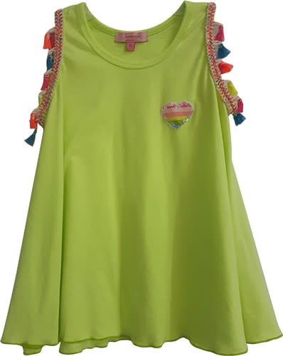 Haven Girl Cotton Tunic Tank w/Tassels