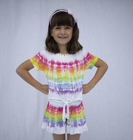 Haven Girl Tye-Dyed Cap, Front Tie Tee