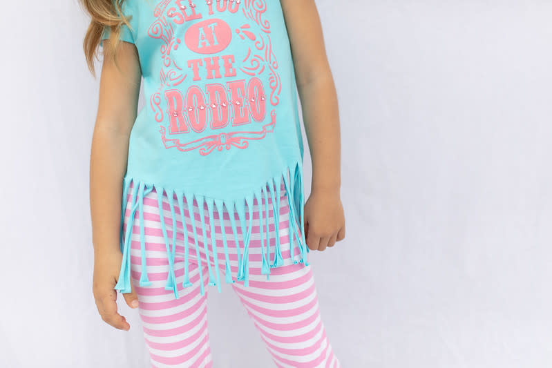 Haven Girl Rodeo Fringed T-shirt