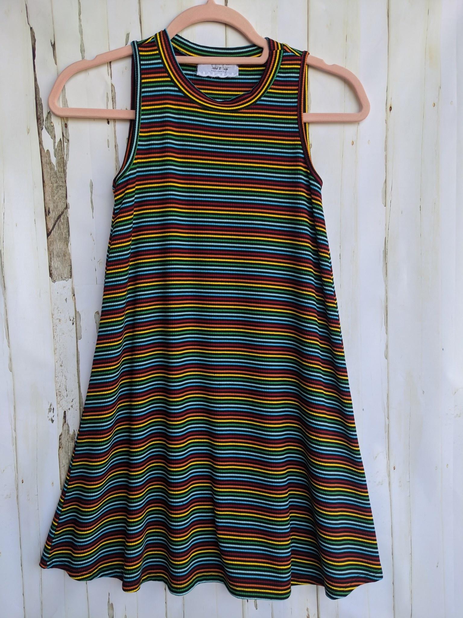 Sadie & Sage Tween Striped Swing Dress