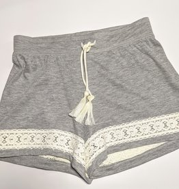 Paper Flower Tween / Teen Knit Shorts w/Lace