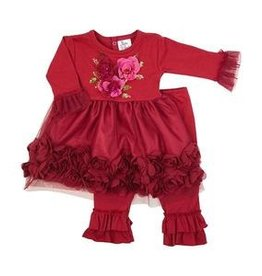Haute Baby Haute Baby, Ruby Sparkle Infant & Toddler Girls Dress Set