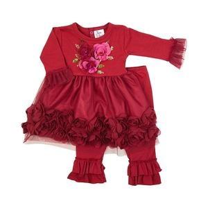 Haute Baby Haute Baby, Ruby Sparkle Infant & Toddler Girls Dress Set