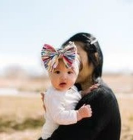 Baby Bling Printed FAB Headband Bow