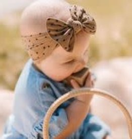 Baby Bling Shabby Pattern Headband Bow