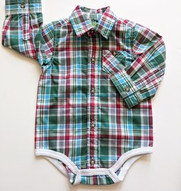Kapital K Baby Plaid Long Sleeve Bodysuit