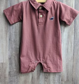 Properly Tied Baby Boy Polo Romper