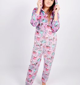 Candy Pink Girls L/S Fleece Onesie