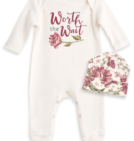 Tesa Baby Baby Girl Romper with Hat
