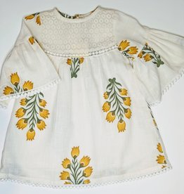 Yo Baby Natural Cotton Baby Dress w/Bloomers