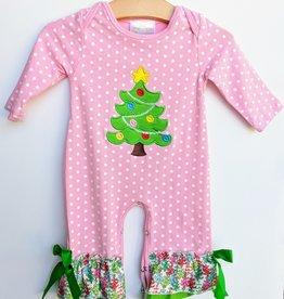 Baby Girl Long Sleeve Christmas Romper