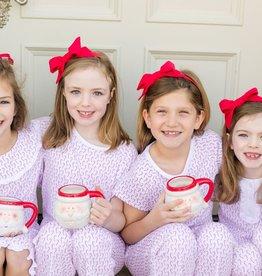 Lila+Hayes Girl's 2pc Pima Cotton Christmas PJ's