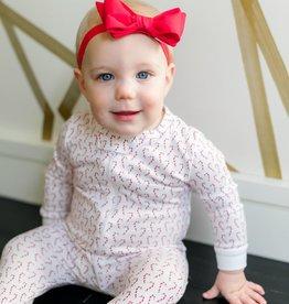 Lila+Hayes Baby / Toddler Zipper Christmas Pj's