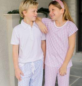 Lila+Hayes Girl Teen Drawstring pant and Short Sleeve Pj's