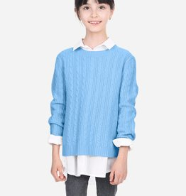 State Cashmere Girls Cable Knit Sweater