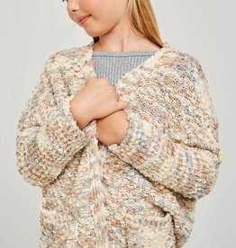 Hayden Girls Tween Textured Dolman Cardigan