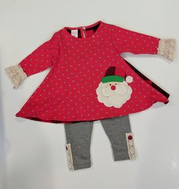 peaches and cream Peaches and Cream Girls 2pc Outfit With Santa