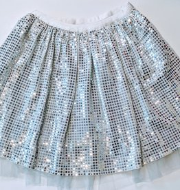 ML Fashions Sequin Tulle Mini Skirt w/Shorts