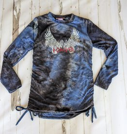 "Stoopher & Boots Tween Tye-Dye ""Rock and Roll"" L/S Top"