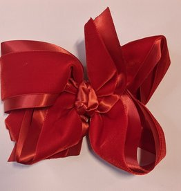 Satin and Velvet Layered  Bow