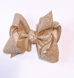 "Glitter Metallic 4"" Med Bow"