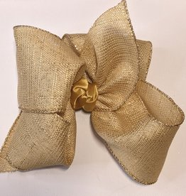 "5.5x2.5"" Glam/Glitter Edge Ribbon Bow w/Alligator Clip"