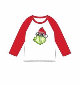 Stink, Stank, Stunk 3/4 Sleeve Christmas T-shirt