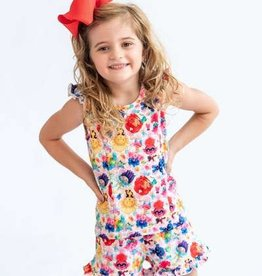 Charlie's Project Girls Ruffled 2pc Short Lounge Wear