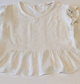 Area Code 407 Embroidered SS Baby Doll Top