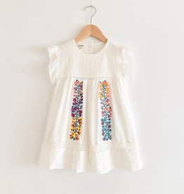 Lesrvier Girls Floral Embroidered Dress