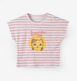 Aimama Girl's S/S Striped T-shirt