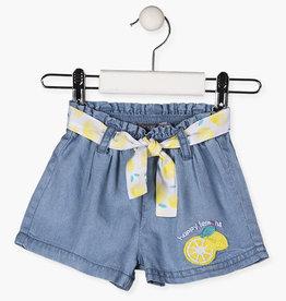 """Losan Baby Girl / Toddler """"Lemon"""" Denim Shorts"""