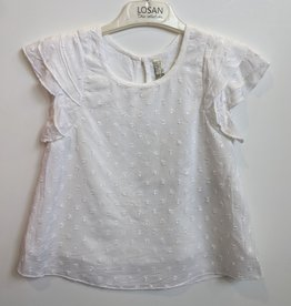 Losan White w/White Dotted Fabric Top