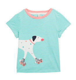Joules Striped T-Shirt w/Dog